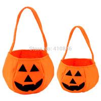 3D Hot sale high quanlity New Halloween Pumpkin bag candy bag halloween decoration supplies for kids 100pcs lot