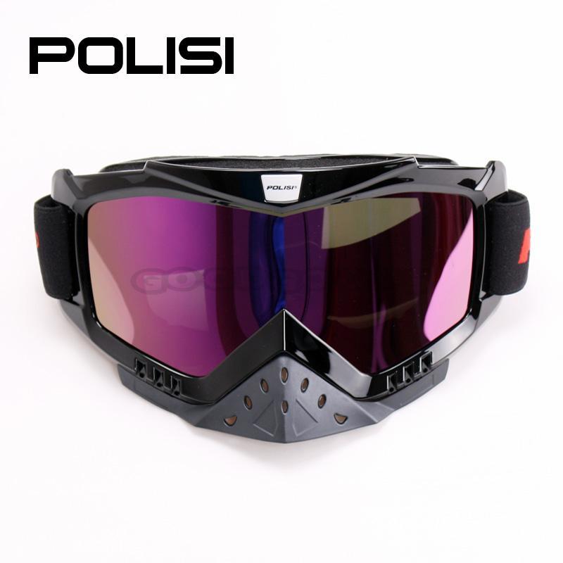 Wholesale New 2016 POLISI Ski Snowboard Motorcycle Dirt Bike Goggles Motocross Off-Road Skiing Airsoft Pai ...