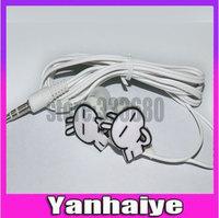 2014 New Cute rabbit Earphones Cartoon Headphones MP3 Earpods 3.5mm Headset for iPhone 5 5s 4S