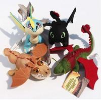 4pcs/set How To Train Your Dragon 2 Plush Toys With Tag Night Fury Gronckle Boneknapper Dragon Deadly Madder Plush Dolls 17-27cm