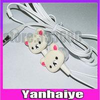 2014 new relaxed bear earphones cartoon music earphones in ear earphones 3.5mm earphones
