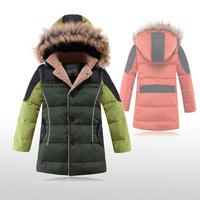 New Arrival Children's Ourterwear High Quality Wool Collar Kids Down Jacket Hooded Thicken Warm Fashion Boys Winter Coat 4-11
