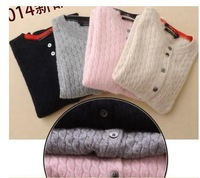 Free shipping 2014 new autumn and winter female cannabis cashmere cardigan sweater shirt