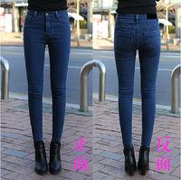 Spring Autumn 2014 new fashion skinny jeans woman.slim all-match elastic mid-waist plus size calca jeans feminina women clothing
