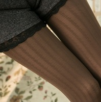 Spring 2014 New Vintage Retro Japanese Vertical Stripe Slim Patterned Printed Tights Panty hose Collant Stockings Pantyhose T46