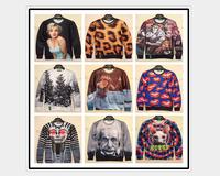2014 new 3d sweatshirts women high quality sexy lady/pearl printed hoodie fashion thin 3d women hoodies free shipping