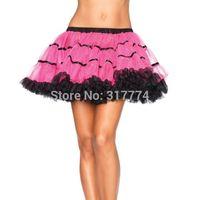 whole sale Sexy Layered Ruffle Mini Tutu Skirt Burlesque Petticoats Clubwear Dance Ball Gown S010