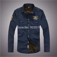Free shipping New 2014 Autumn&Winter Men's Warm Thickening Casual Shirts Long Sleeve Cotton Shirt for Men Plus Big Size XXXL