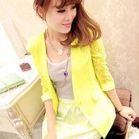 Women fall coat Korean cultivating suit Ms. small suit female seven Quarter Sleeve lace suit wholesale 3038