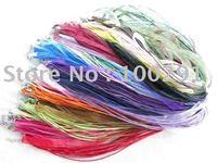 Free ship!!! 100pcs silk Organza Ribbon Necklace Strap Cord Chain