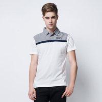 Summer 2014 men's T-shirt Polo splicing hit color cotton T-shirt