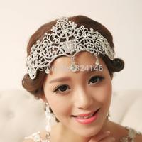 Beauty  princess tiaras noble crystal wedding crown wedding dress hair accessories Miss beauty hair crown