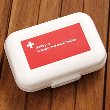 One week portable mini travel kit imported from Japan, large-capacity portable pill box free postage(China (Mainland))