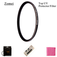 Free Shipping Top UHD Zomei Ultrathin 72mm UV Filter Germany Polarizer Lens 18 Layer Coating Oil Soil for Canon Sony Camera