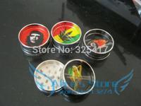 Free shipping 6pcs/lot (dia 4.2cm) 2-layer Metal herb grinder Tobacco Grinder Machine manual Gift Promotion GR025