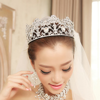 Big Beauty  princess tiaras Gorgeous crystal wedding crown tiaras wedding dress hair accessories