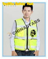 Free shipping best selling  Reflective vests / traffic safety vest / fluorescent green mesh safety vest enforcement