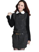 Free Shipping!  2014 Autumn Winter Long sleeve Plus Size Dresses, novelty dresses XL XXL XXXL XXXXL