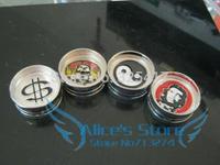 Free shipping 6pcs/lot (dia 5.3cm) 2-layer Metal herb grinder Tobacco Grinder Machine manual Gift Promotion GR008