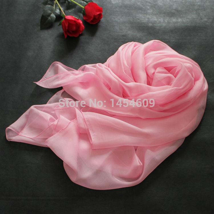 New original silk two meters long big summer sun scarf shawl scarf silk scarf pink water(China (Mainland))