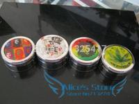 Free shipping 6pcs/lot (dia 5cm) 2-layer Metal herb grinder Tobacco Grinder Machine manual Gift GR100