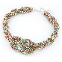 Bohemian handmade beads necklace simple 8-word
