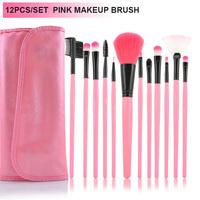 12 Pcs Elegant Professional Beauty Cosmetic Makeup Brush Set Kit with Free Case pincel maquillaje maquiagem Maquillage