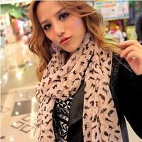 Stylish Silk Scarves Sexy cat Long Scarf chiffon Shawls Women's sunscreen Christmas gifts multicolor 10pcs/lot