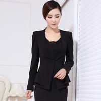 Formal Blazers Women Jackets Autumn 2014 Blaser Feminino Ladies Business Professional Clothes Work Office Uniform Styles