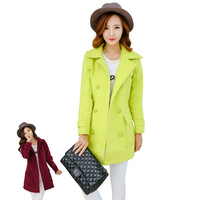 2014 Real Casacos Femininos The New Women's Coat Female Autumn And Winter In Long Section of Woollen Overcoat Korean Cultivating