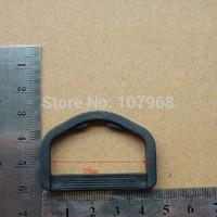 Free Shipping: 400pcs/Lot KAM Brand Black Plastic Adjustable Buckles,D Shape Plastic Buckles, D Button ( M015-38)