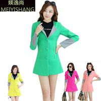 2014 Limited Freeshipping Polyester Long Full Overcoat New Winter Jacket Large Code Clothing Wholesale Fashion Slim Coat Girl