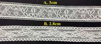 Free shipping 2.8cm/3cm high quality stretch jacquard lace trim,HL0920