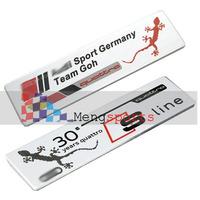 20pcs Quattro 3D aluminum Badges Emblem Metal-D010 100x26mm