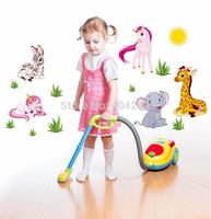 Cartoon Animal Removable Vinyl Kindergarten Nursery Kids Baby Child Bedroom Home Decor Art Mural DIY Wall Stickers Decal