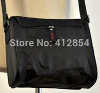 Men's black strap canvas wild small Man shouder small bag A12