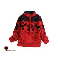New Children Clothing Autumn Winter Boys Thick Warm Sweater Coat Cartoon Dear Jacquard Cotton Sweater Coat Kids Outwear