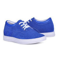 Blue elevator shoes casual shoes gain you  taller 6cm / 2.36inches height many colors are available free shipping DHL/EMS