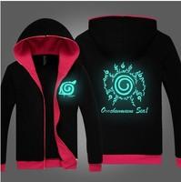 New Naruto Sasuke kakashi Sharingan Night Lights  Cosplay Black Hoodies Sweatshirts Free Shipping