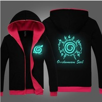New Naruto Sasuke kakashi Sharingan Night Lights  Cosplay Black Hoodies Sweatshirts Free Shipping
