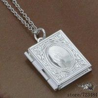 925 sterling silver Necklace 925 silver fashion jewelry pendant Book /fgranxya bqsakhza #333