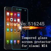 50pcs/lot HOT xiaomi mi4 Premium Tempered Glass Screen Protector for xiaomi M4 glass film No Package
