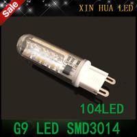 1Pcs New  G9 SMD3014  LED Bulb 220V  9W LED corn Lamp  led lampada light 360 Beam Angle Crystal Chandelier led spotlight lamps