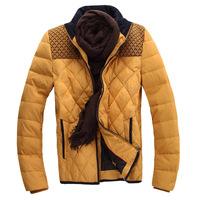 2014 Winter models hit the color stitching collar Slim Korean men's jackets wholesale fashion men down jacket recruit agents