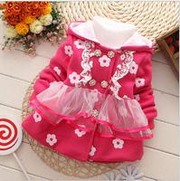 2014 Retail 1 pcs free shipping girl bot coat kids cardigan baby jack children's clothing 3color for Autumn winter  girls coat