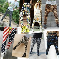 Free Shipping Womens Casual Elastic Waist Hip-hop Harem Pants Trousers 14 Colors [3.5 70-5251]