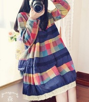 2014 new fashion autumn long sleeve Cotton and linen dress for pregnant women
