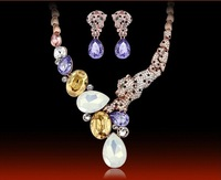 The new fashion accessories The bride wedding jewelry set Luxury crystal vigor leopard spirit suit