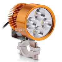 20pcs/lot Motorcycle 12W High Power White 4 LED Headlight Head Lamp Light 6000-6500K