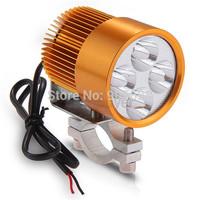 Motorcycle 12W High Power White 4 LED Headlight Head Lamp Light 6000-6500K